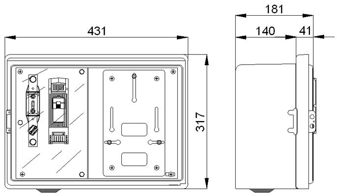 Caja Medida Cpm1 D2 M Contador Monofasico Empotrar Rovia