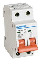 Interruptor autom/ático magnetot/érmico 1P+N 20A HYUNDAI