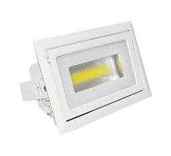LEDS HOME LHDR007040W1 DOWNLIGHT LED ORIENTABLE 40W 3000K 3600LM 100º 230X143mm
