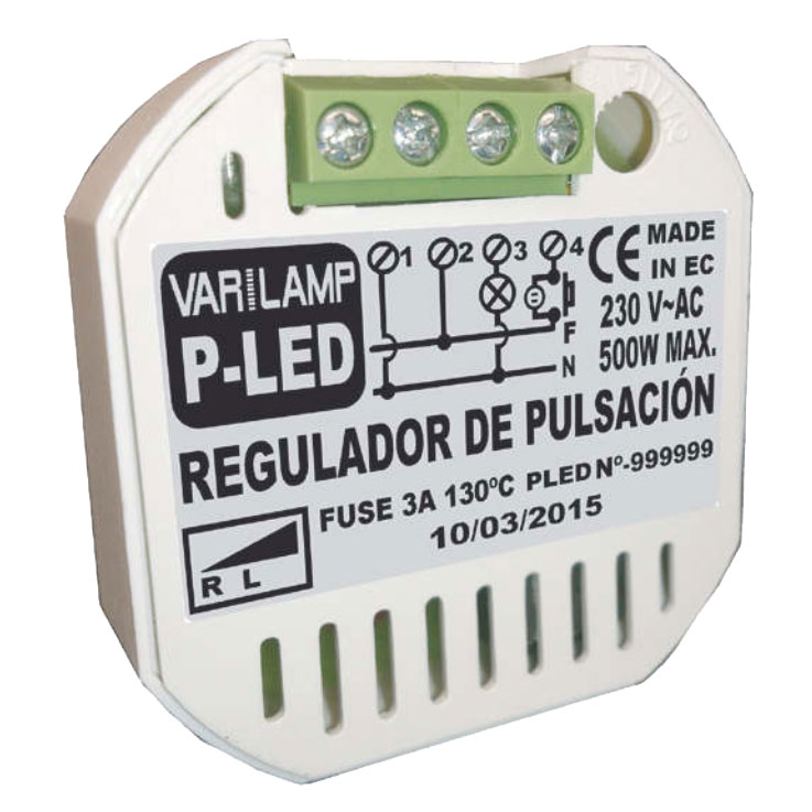 VARILAMP P-LED PASTILLA REGULADORA LED 230V 500W LED DIMABLES HALOGENOS E INCANDESCENCIA.