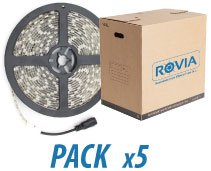 ROVIA LIGHTING 2031/12P TIRA LED 6000K IP65 60 LEDS 12V 4.8W 8MM. (PACK 5 und.)