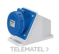 ELETTROCANALI EC690511 BASE INCLINADA SUPERFICIE IP67 220V 2 POLOS + TIERRA 16A
